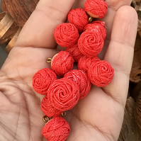 Large Collection of Textural Rose Style Buttons. (14 in total)