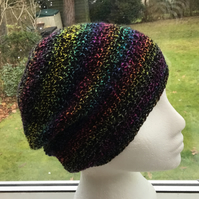 Aurora!  Crocheted Soft Beret, Beanie or Slouchy in Denys Brunton Designer Yarn.