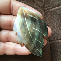 Large Mother of Pearl Carved Shell Pendant Item for Jewellery Designers.