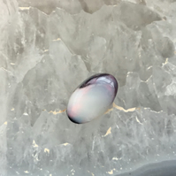 Beautiful Black and White Opal Cabochon from Lightening Ridge, Australia.
