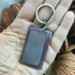 Smokey Lavender Grey!  Agate Gemstone Keyring or Handbag Charm.
