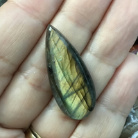 Beautiful Narrow Pear Shaped Labradorite Cabochon for Jewellery Designers.