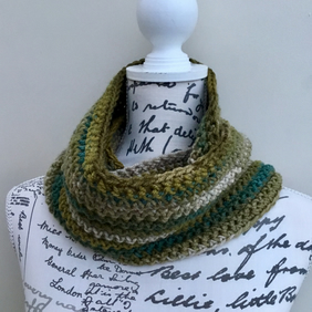 Favori Batik Crocheted Autumnal Tones Infinity Scarf or Neck Cosy.