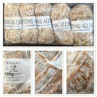 Sale! 500g Bundle Lot: 5 x 100g Fashion Beige Knitting Allsorts Mixed Fibre Yarn