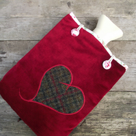 SALE! Red Velvet Hot Water Bottle Cover