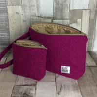 Harris Tweed Clutch Bag and Matching Purse