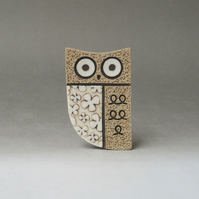 Wide awake owl brooch