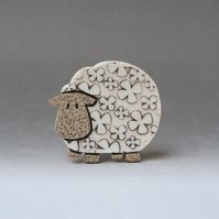 Sheep brooch .... Baaaaa