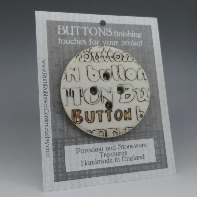 Big button button stoneware and porcelain focal button