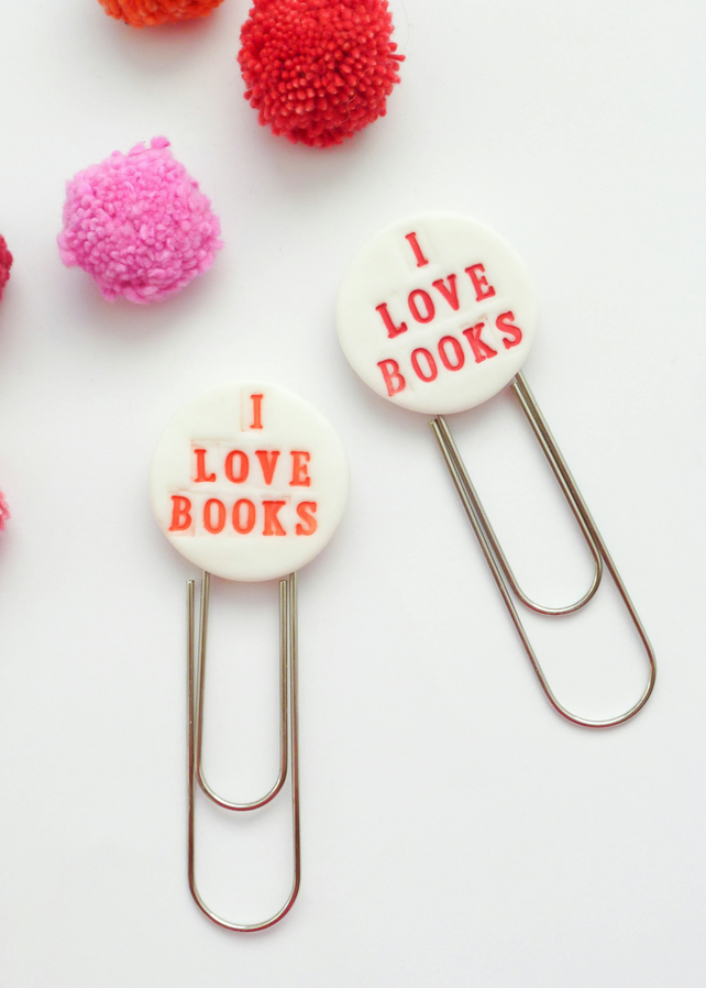 I Love Books bookmark by delphineandmax