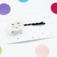 Sleepy porcelain ceramic cloud hairpin