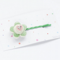 Colourful Ceramic flower bobby pin