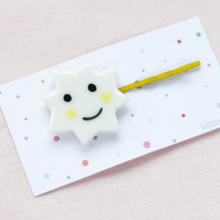 Smiling sunshine porcelain ceramic hairpin