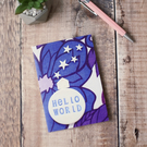 """Hello World"" vintage style greeting card"