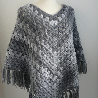 Shades of grey Poncho