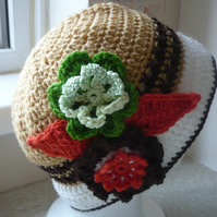 Mocha and Cream Ladies Cloche