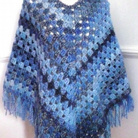 Shades of Blue Poncho