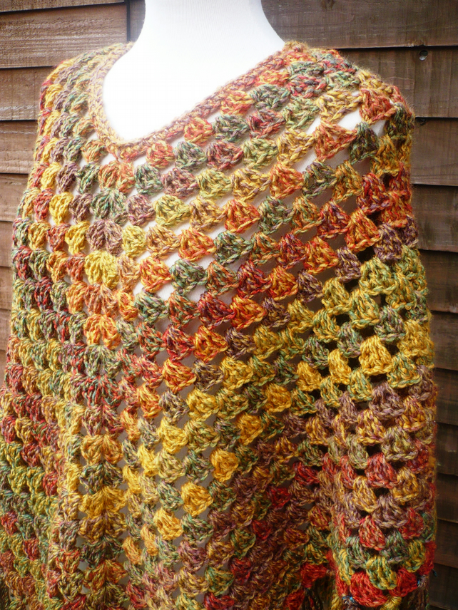 Autumn Colours Poncho