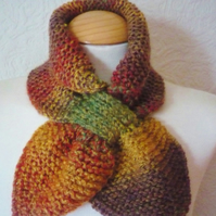 Autumn Colours Ascot Bow Scarf