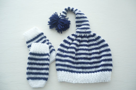 Baby Pixie Hat and Gloves