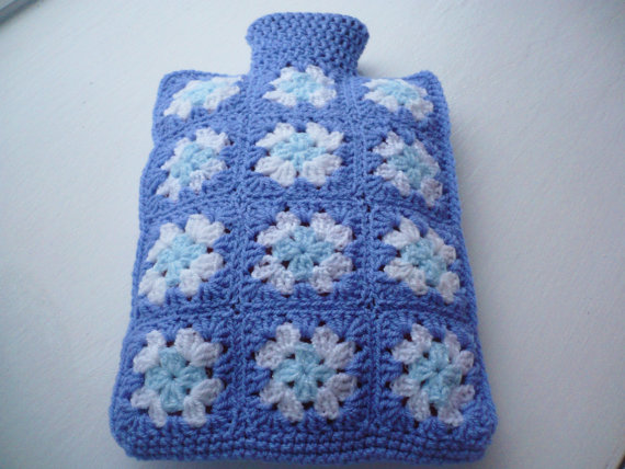 Granny Square Hot Water Bottle Cover
