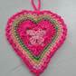 Hanging Crocheted Heart