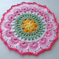 Large Doily,Mandella,Crochet Table Mat Center Piece