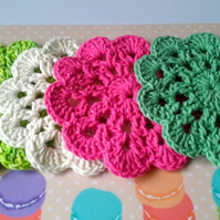 Four Cotton Coasters