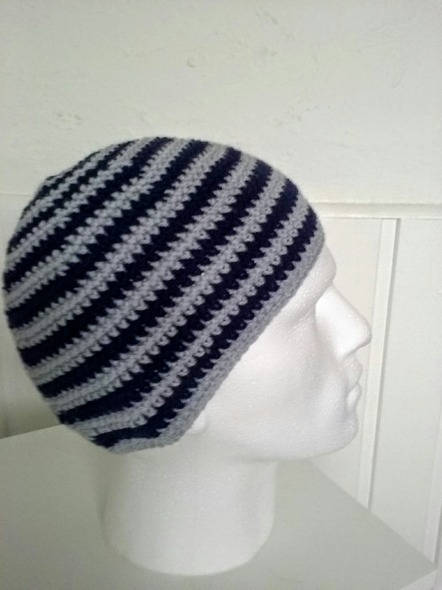 Mens Hat Beanie,Skull Hat in colours Grey and Navy