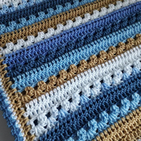 Shades of Blue Baby Blanket