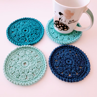 Coasters x 4 Cotton
