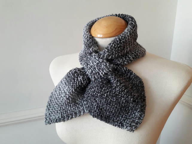 Ascot Bow Scarf in Two shades of Grey