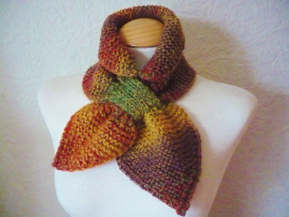 Ascot Bow Scarf in Autumn Colours
