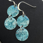 Light turquoise mix geometric enamel earrings