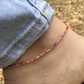 Melonberry mix anklet. Made to order. Sterling silver