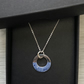 Sterling silver & enamel washer necklace