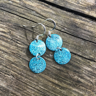 Turquoise mix geometric enamel earrings