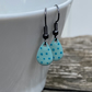Double Turquoise Spot Enamel Teardrop Earrings. Sterling silver available
