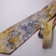 Quality, Unique, Hand Painted Tie,100% Silk