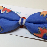 Quality, unique, hand painted bow tie,100% silk