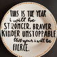 Hand painted New Year positive quote, I will be Fierce side plate.