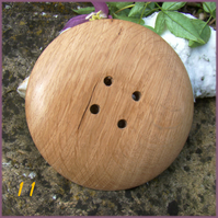 Giant wooden button 70mm  80mm