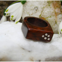 A Ring in Snakewood and Silver