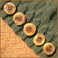 Rustic natural edged buttons about 30mm