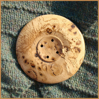 Giant wooden button 110mm  /  4 1/2""