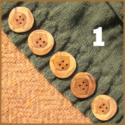 Rustic natural edged buttons about 40mm