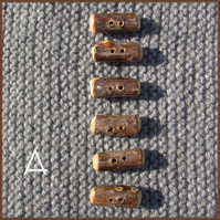 Rustic natural branchwood toggle buttons