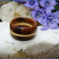 A Ring in Boxwood and Tamboti