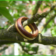 A Ring in Mahogany and Boxwood