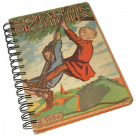 Vintage Book recycled as Medium Notebook - The Great Book of Children